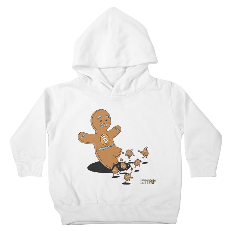 Bitcoin Gingerbread Man Kids Toddler Pullover Hoody by cryptopop's Artist Shop