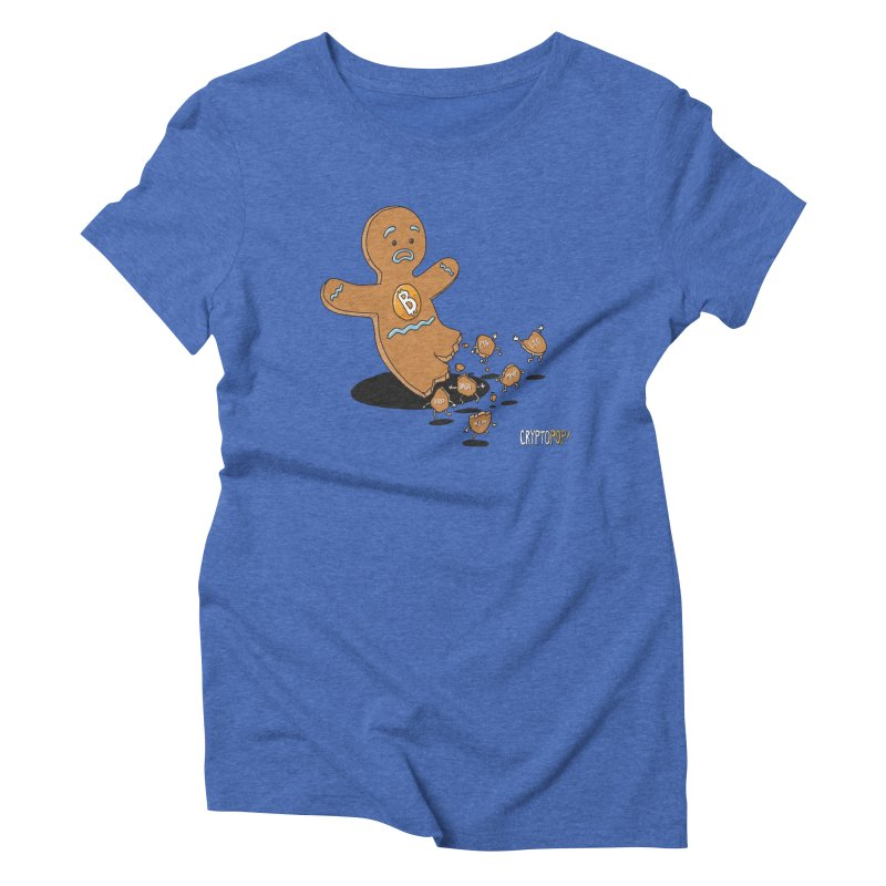 Bitcoin Gingerbread Man Women's Triblend T-Shirt by cryptopop's Artist Shop