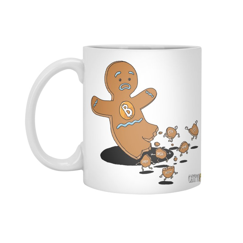 Bitcoin Gingerbread Man Accessories Standard Mug by cryptopop's Artist Shop