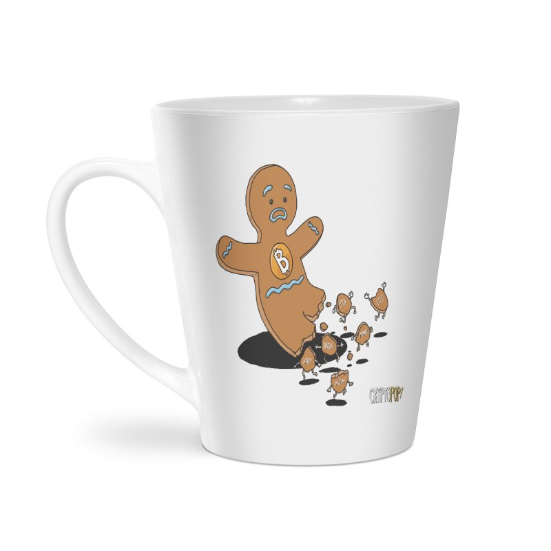Bitcoin Gingerbread Man Accessories Latte Mug by cryptopop's Artist Shop