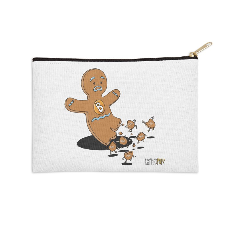 Bitcoin Gingerbread Man Accessories Zip Pouch by cryptopop's Artist Shop