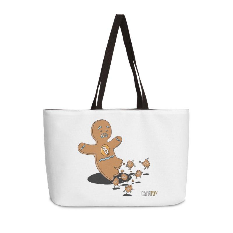 Bitcoin Gingerbread Man Accessories Weekender Bag Bag by cryptopop's Artist Shop
