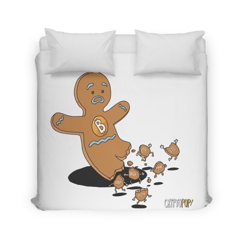 Bitcoin Gingerbread Man Home Duvet by cryptopop's Artist Shop