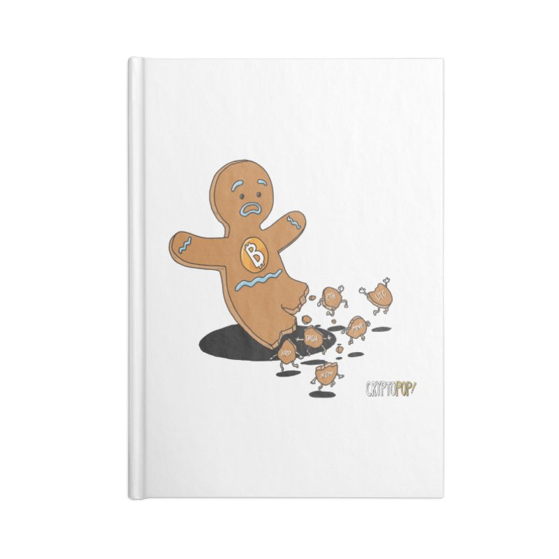 Bitcoin Gingerbread Man Accessories Blank Journal Notebook by cryptopop's Artist Shop