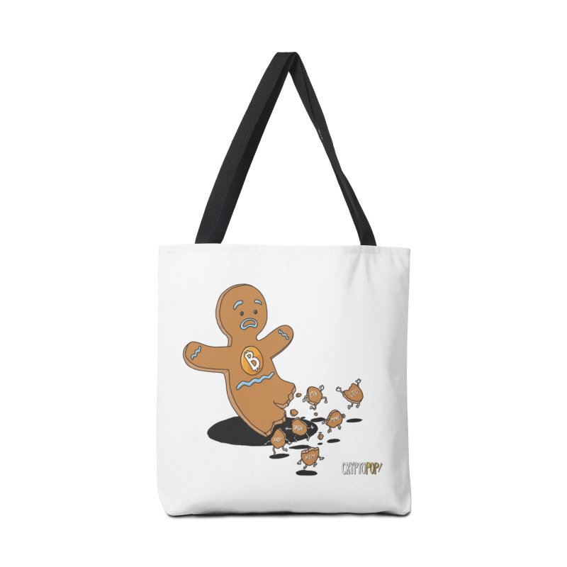 Bitcoin Gingerbread Man Accessories Tote Bag Bag by cryptopop's Artist Shop