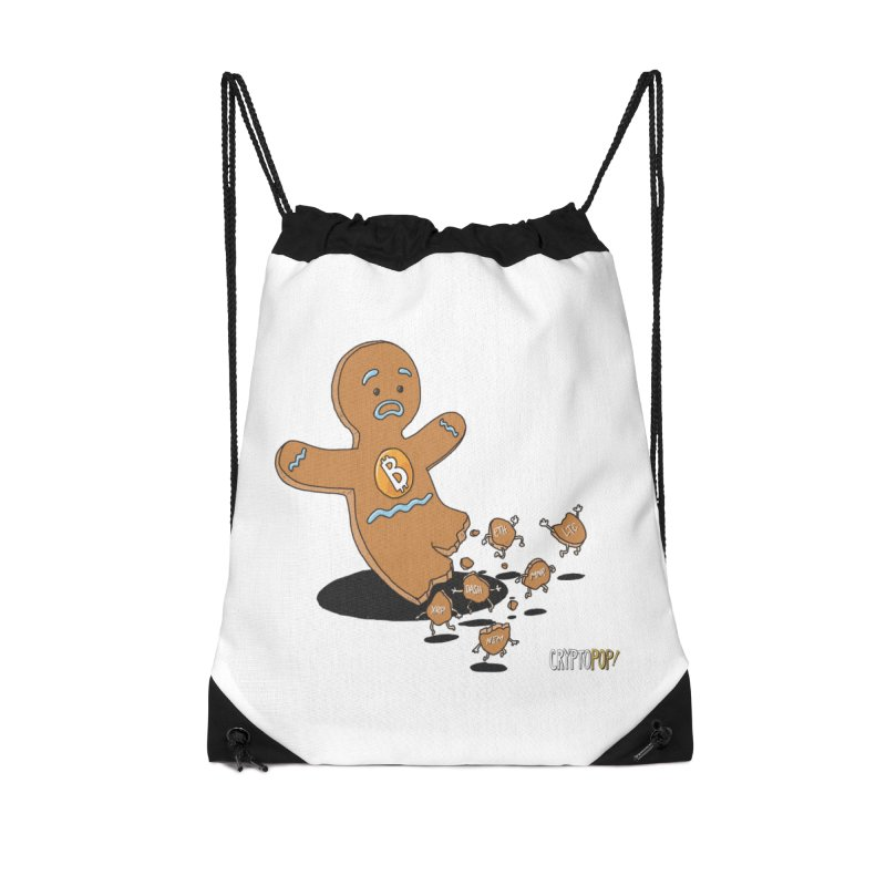 Bitcoin Gingerbread Man Accessories Bag by cryptopop's Artist Shop