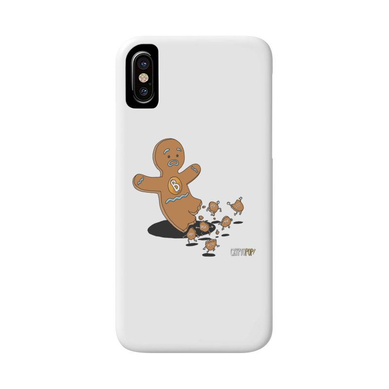 Bitcoin Gingerbread Man Accessories Phone Case by cryptopop's Artist Shop