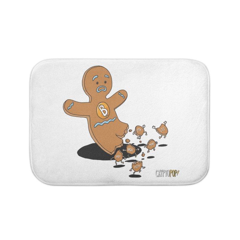 Bitcoin Gingerbread Man Home Bath Mat by cryptopop's Artist Shop