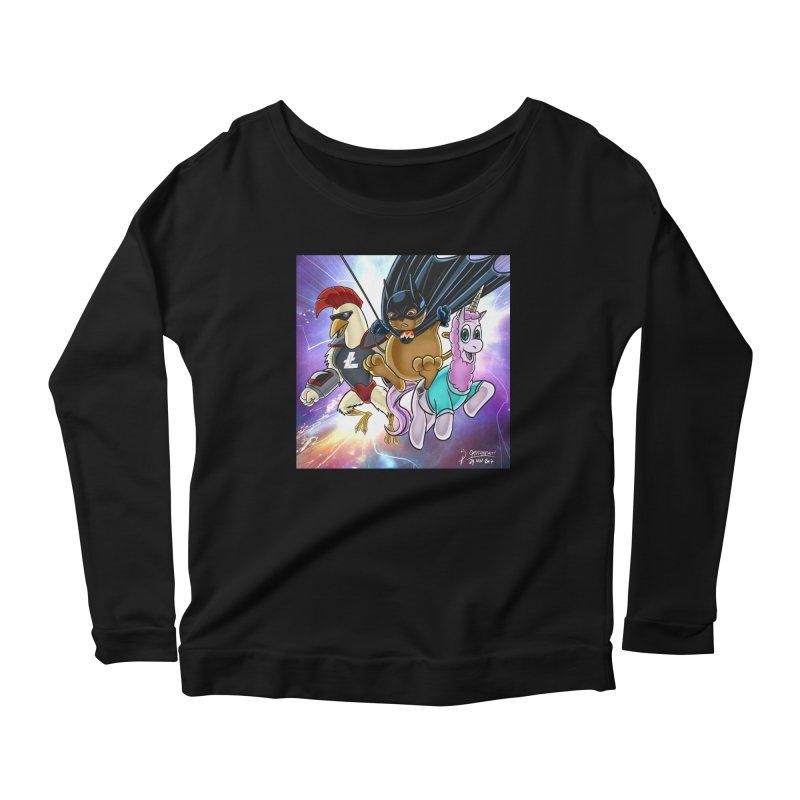 Cryptostars: ChikunXL, MoneroCat, Etherea Women's Scoop Neck Longsleeve T-Shirt by cryptopop's Artist Shop