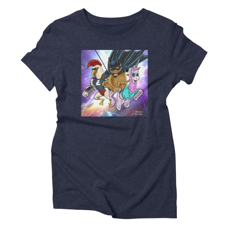 Cryptostars: ChikunXL, MoneroCat, Etherea Women's Triblend T-Shirt by cryptopop's Artist Shop