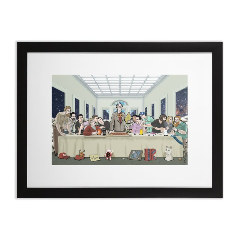 Supper at the Bitcoin Moonbase Home Framed Fine Art Print by cryptopop's Artist Shop