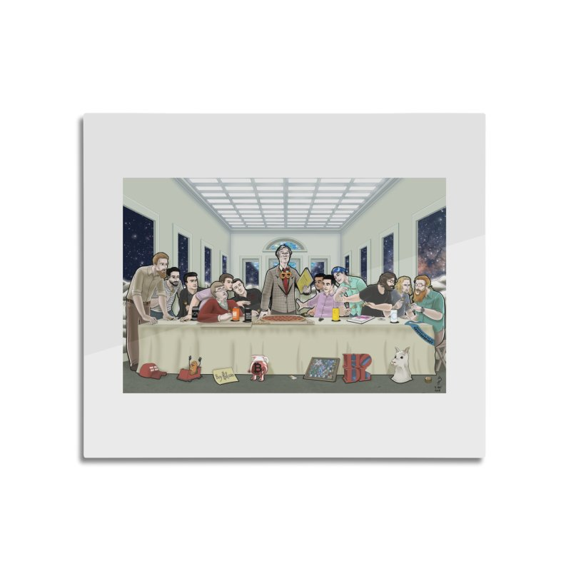 Supper at the Bitcoin Moonbase Home Mounted Acrylic Print by cryptopop's Artist Shop
