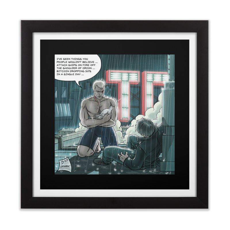 Bitcoin Tears in Rain Home Framed Fine Art Print by cryptopop's Artist Shop