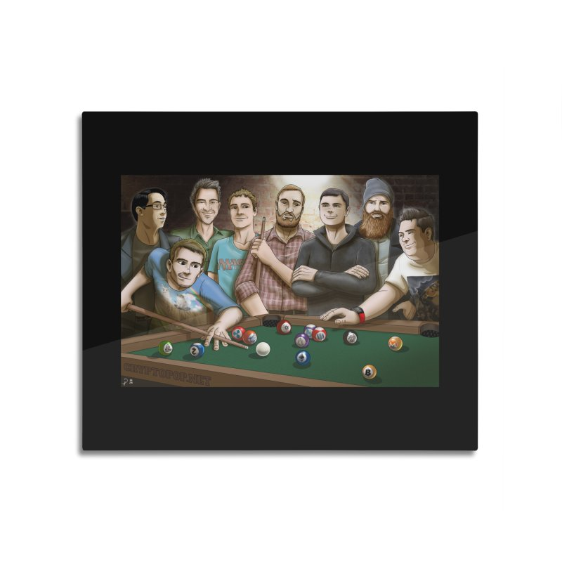 Alt Pool Home Mounted Aluminum Print by cryptopop's Artist Shop