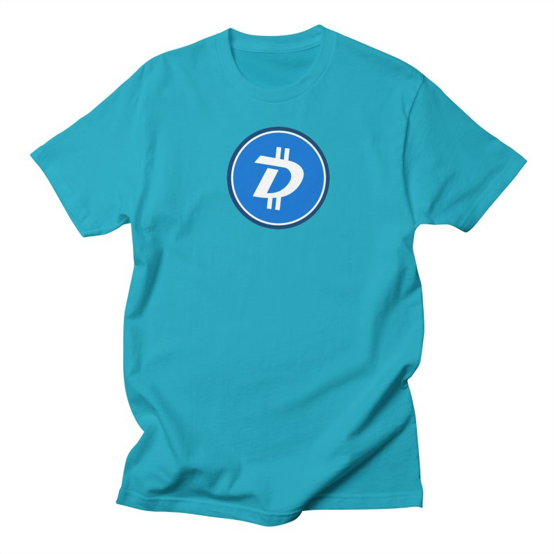 Digibyte white in Men's T-shirt Cyan by https://crypto.menu