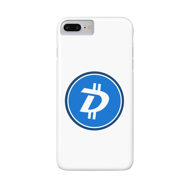 Digibyte white in iPhone 7 Plus Phone Case Slim by https://crypto.menu