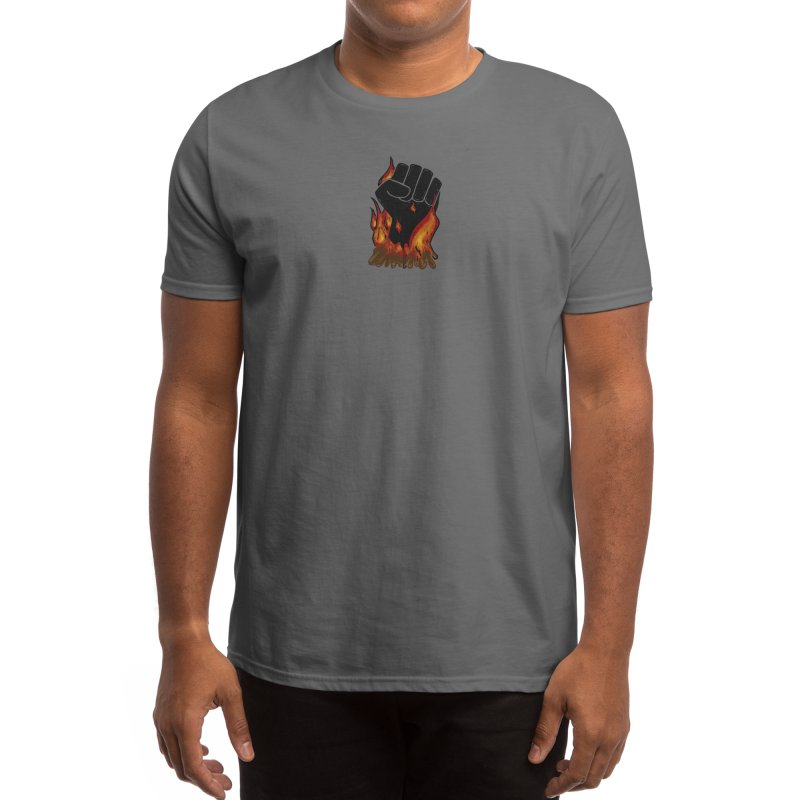 Burning Fight Men's T-Shirt by Crystal Heart Creative Studios's Artist Shop
