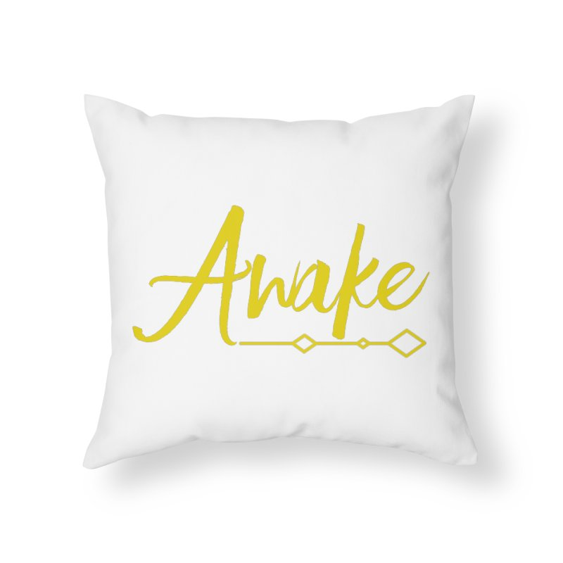 Awake Home Throw Pillow by Crystalline Light
