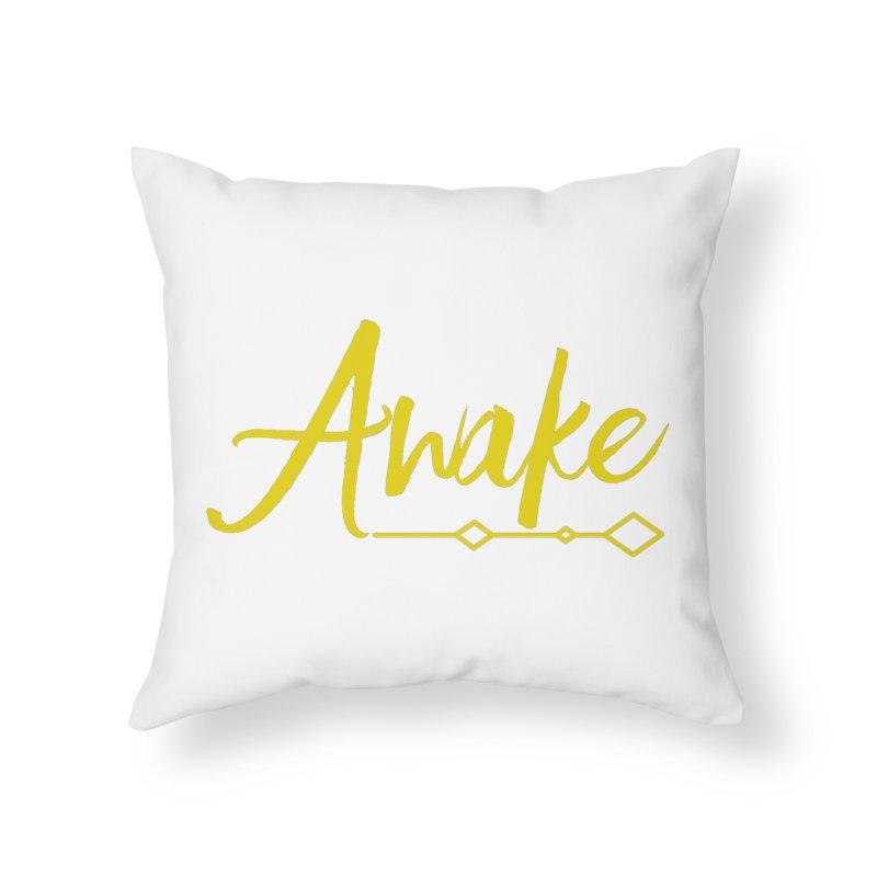 Awake Home Throw Pillow by Crystalline Light