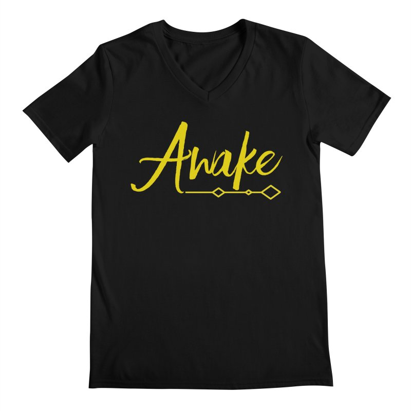 Awake Men's Regular V-Neck by Crystalline Light