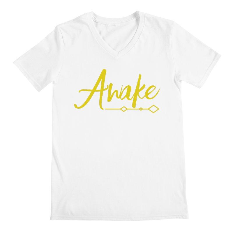 Awake Men's V-Neck by Crystalline Light