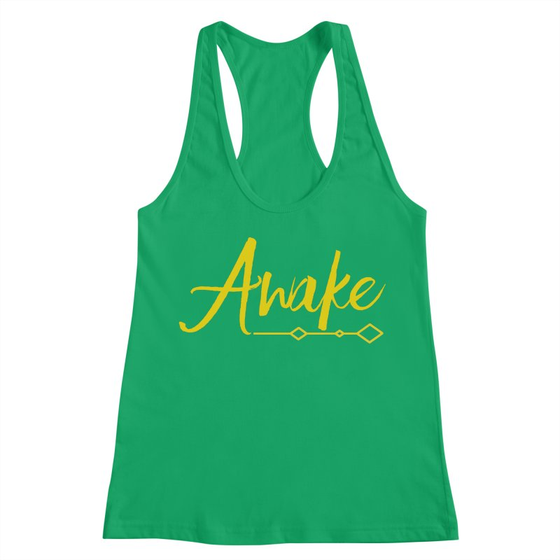 Awake Women's Racerback Tank by Crystalline Light