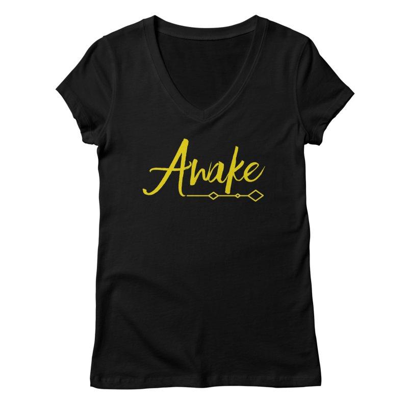 Awake Women's V-Neck by Crystalline Light