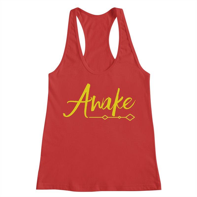 Awake Women's Racerback Tank by Crystalline Light