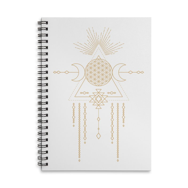 Flower of Life Tribal Totem Accessories Lined Spiral Notebook by Crystalline Light