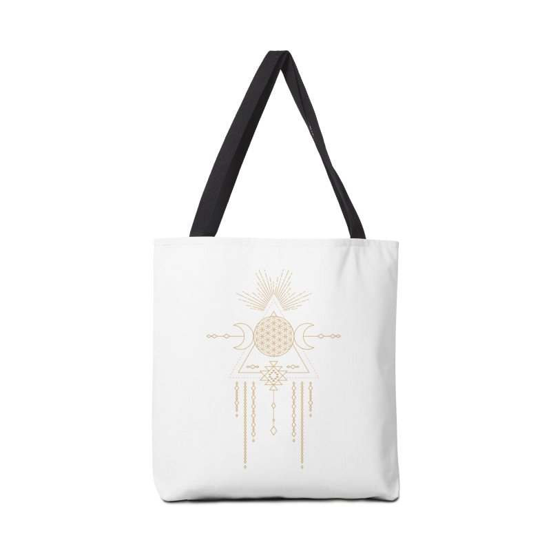 Flower of Life Tribal Totem Accessories Tote Bag Bag by Crystalline Light