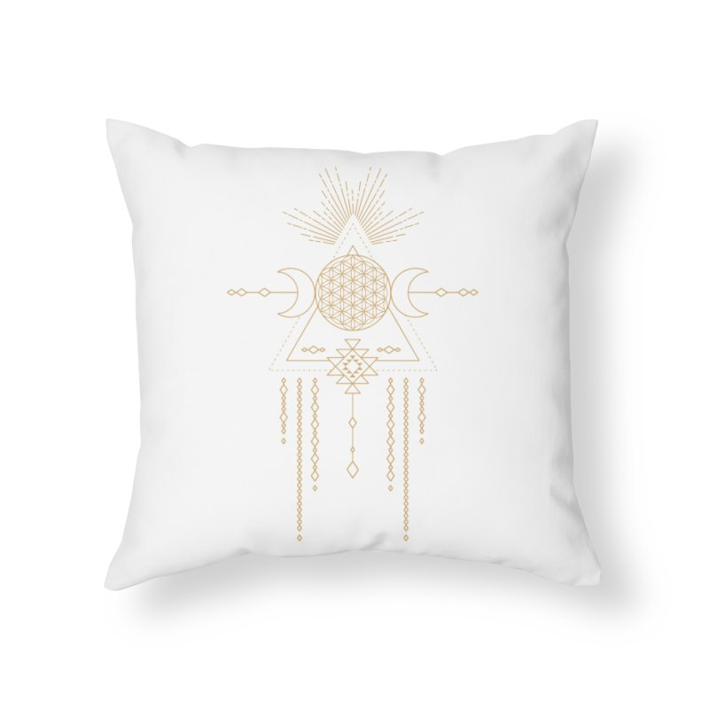 Flower of Life Tribal Totem Home Throw Pillow by Crystalline Light