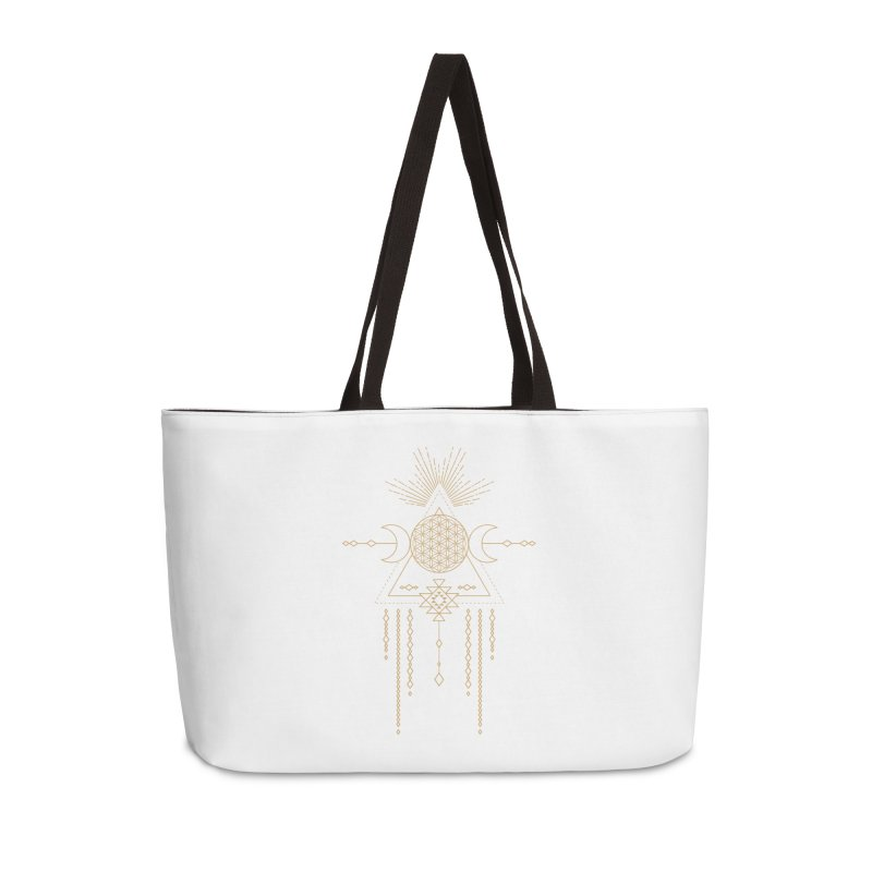 Flower of Life Tribal Totem Accessories Weekender Bag Bag by Crystalline Light