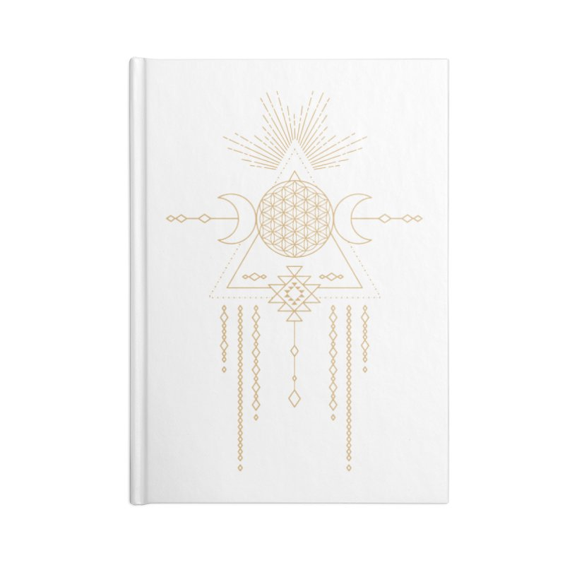 Flower of Life Tribal Totem Accessories Blank Journal Notebook by Crystalline Light