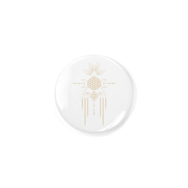 Flower of Life Tribal Totem Accessories Button by Crystalline Light
