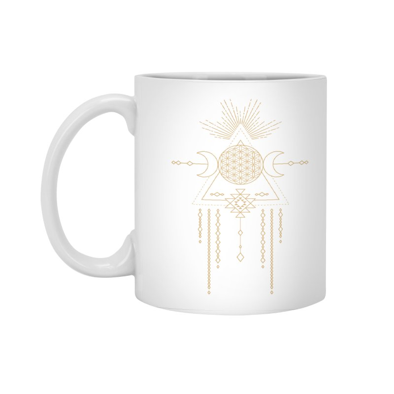 Flower of Life Tribal Totem Accessories Standard Mug by Crystalline Light