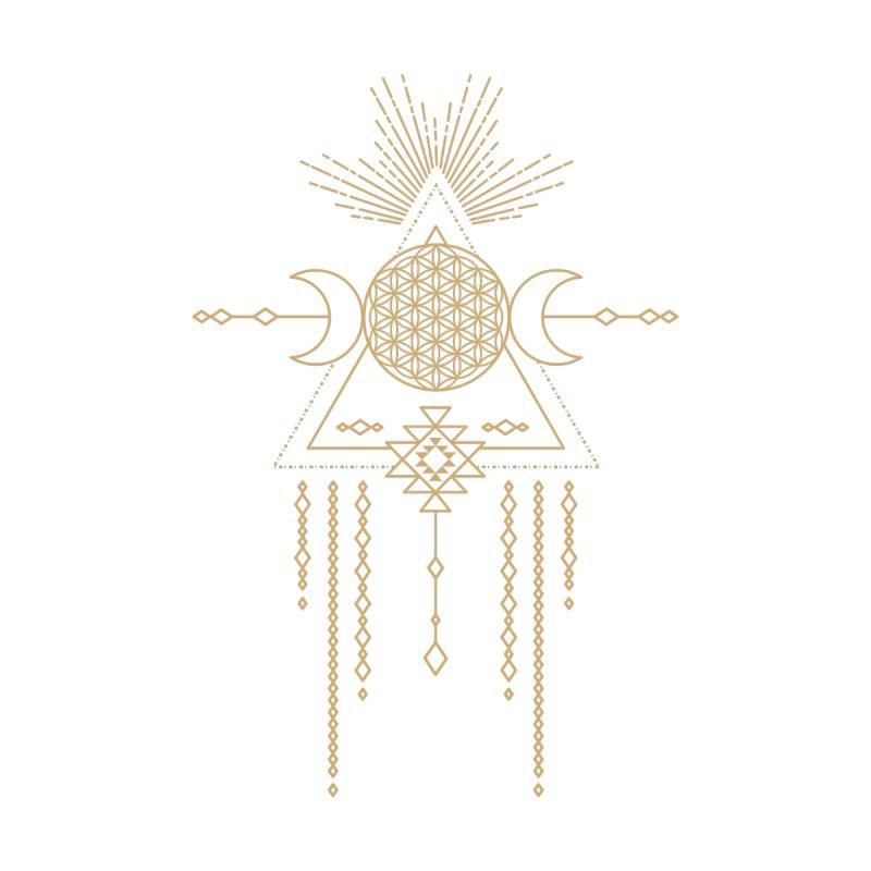 Flower of Life Tribal Totem Kids Baby Longsleeve Bodysuit by Crystalline Light