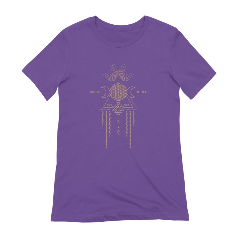Flower of Life Tribal Totem Women's Extra Soft T-Shirt by Crystalline Light