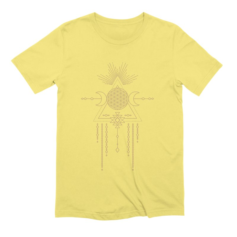 Flower of Life Tribal Totem Men's Extra Soft T-Shirt by Crystalline Light