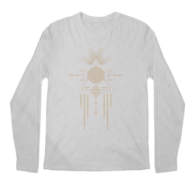 Flower of Life Tribal Totem Men's Regular Longsleeve T-Shirt by Crystalline Light