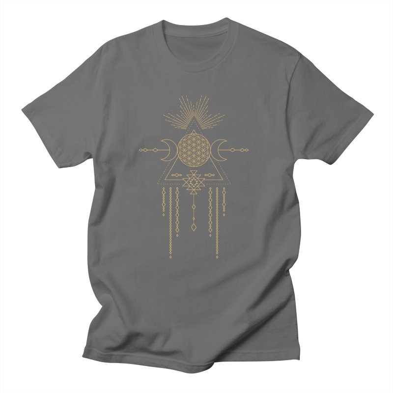 Flower of Life Tribal Totem Men's T-Shirt by Crystalline Light