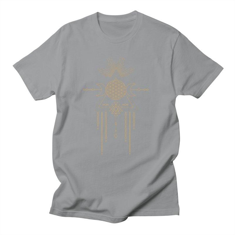 Flower of Life Tribal Totem Men's T-Shirt by Crystalline Light