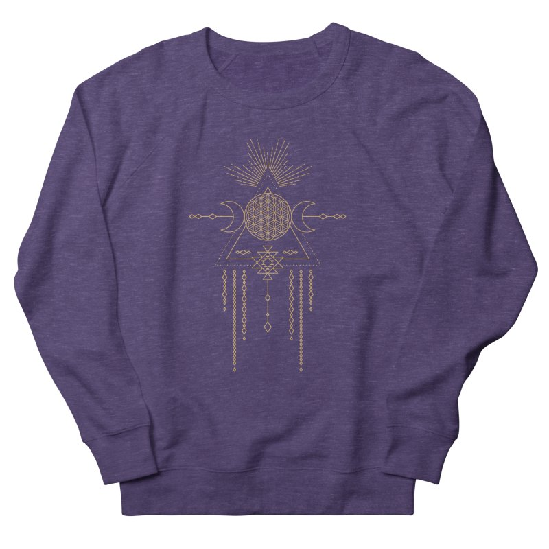 Flower of Life Tribal Totem Men's Sweatshirt by Crystalline Light