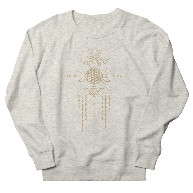 Flower of Life Tribal Totem Men's French Terry Sweatshirt by Crystalline Light