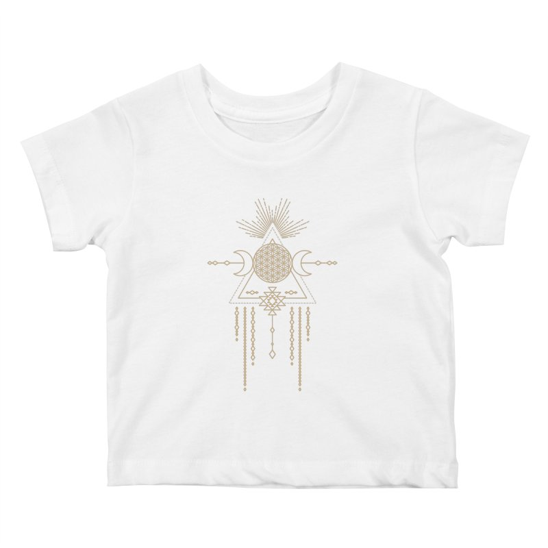 Flower of Life Tribal Totem Kids Baby T-Shirt by Crystalline Light