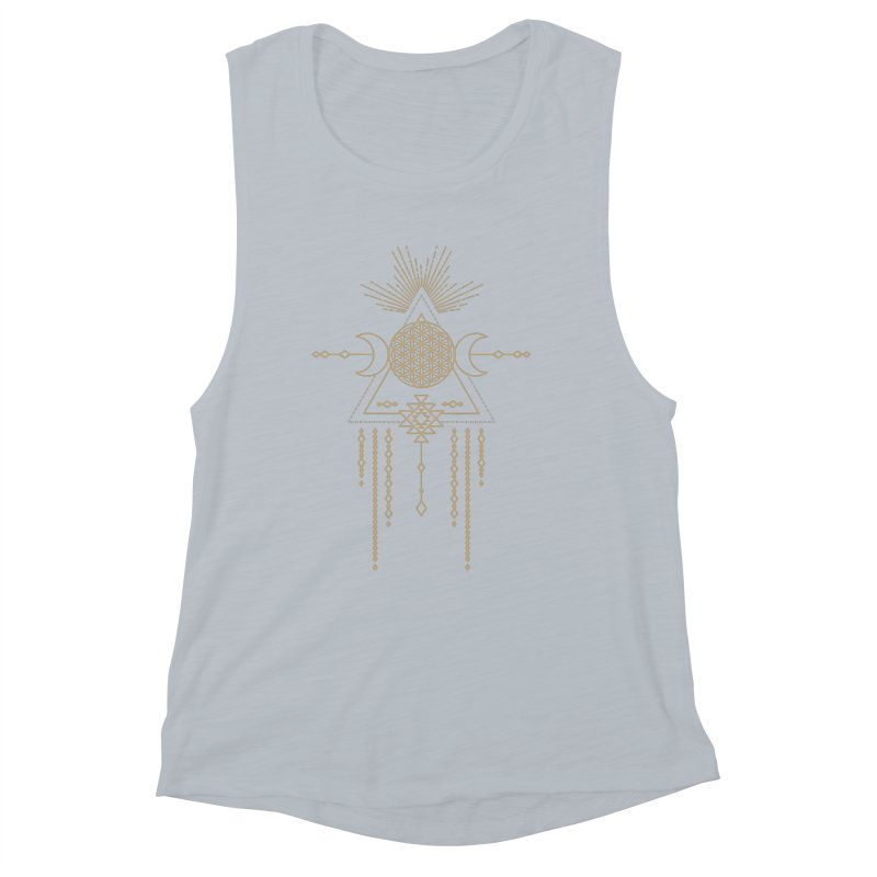 Flower of Life Tribal Totem Women's Muscle Tank by Crystalline Light