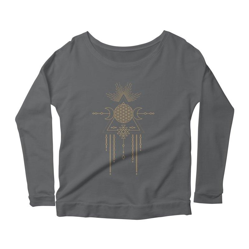 Flower of Life Tribal Totem Women's Longsleeve T-Shirt by Crystalline Light