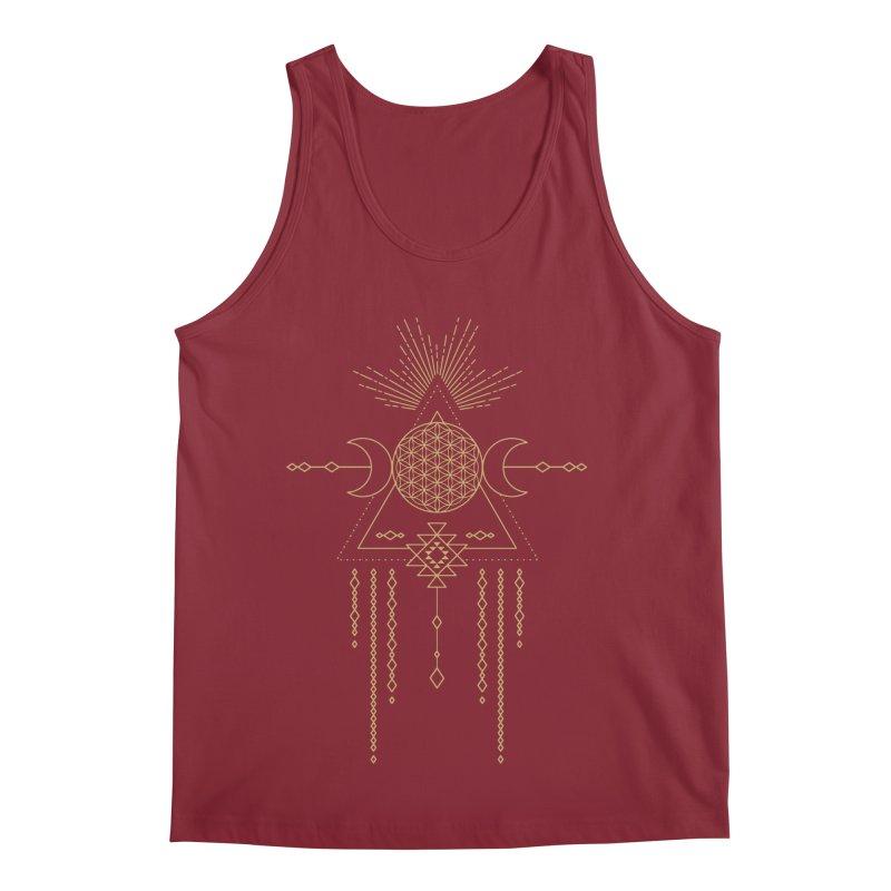 Flower of Life Tribal Totem Men's Regular Tank by Crystalline Light
