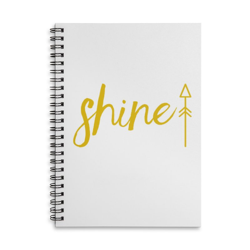 Shine Accessories Lined Spiral Notebook by Crystalline Light