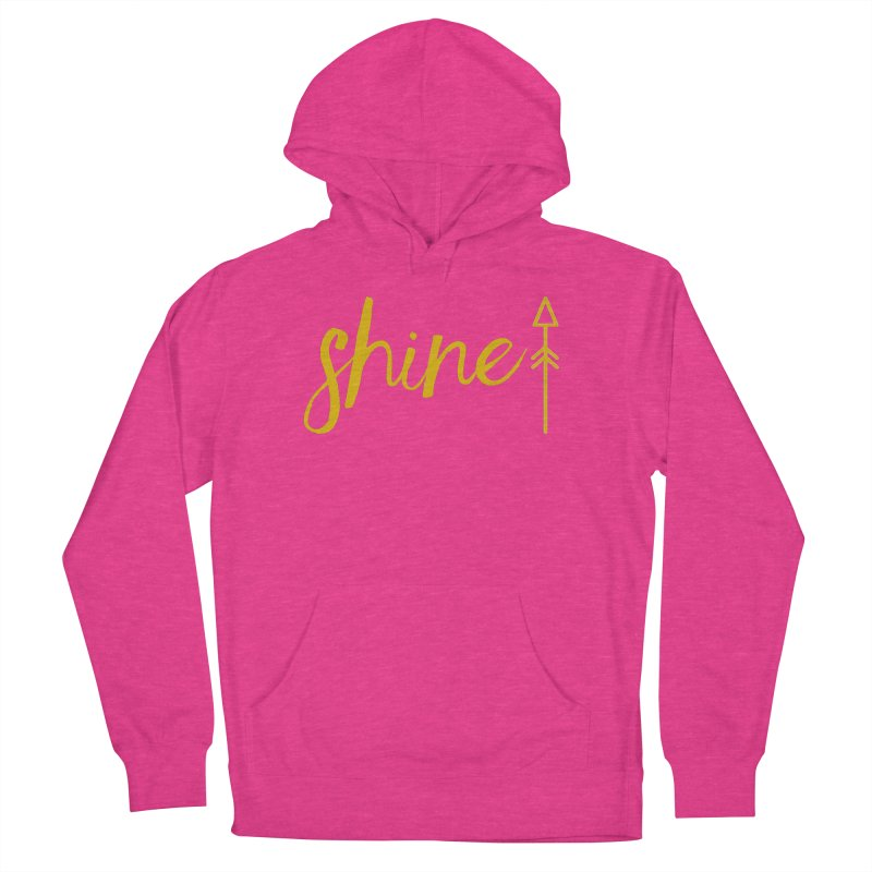 Shine Women's French Terry Pullover Hoody by Crystalline Light
