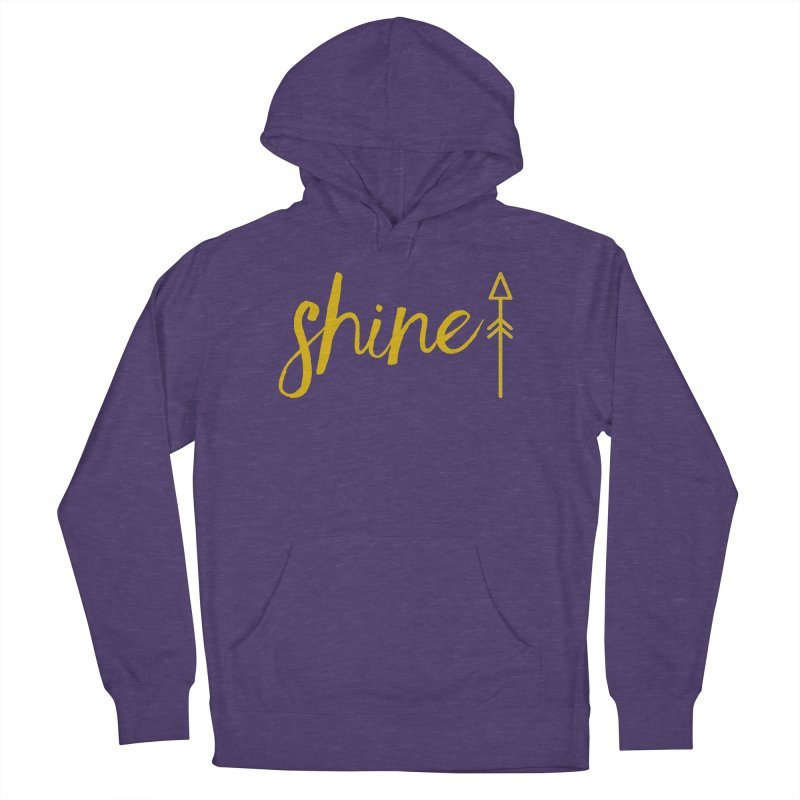 Shine Men's French Terry Pullover Hoody by Crystalline Light